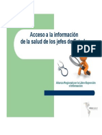 Acceso a la información de la salud de los jefes de Estado
