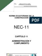 (NEC2011-CAP.11-ADMINISTRACIÓN Y CUMPLIMIENTO-021412)