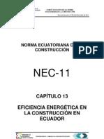 (NEC2011-CAP.13-EFICIENCIA ENERGÉTICA EN LA CONSTRUCCIÓN EN ECUADOR-021412)