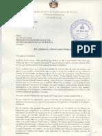 Carta de Rebeca Delgado al presidente Evo Morales