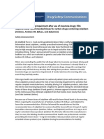 FDA Safety Announcement - Sleeping Pills [1-10-2013]
