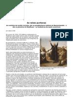 As raízes puritanas - História Viva