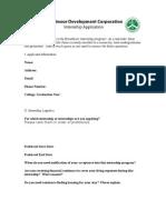 Broadmoor Internship Application