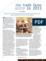 RT Vol. 12, No. 1 Global rice trade faces uncertainty in 2013
