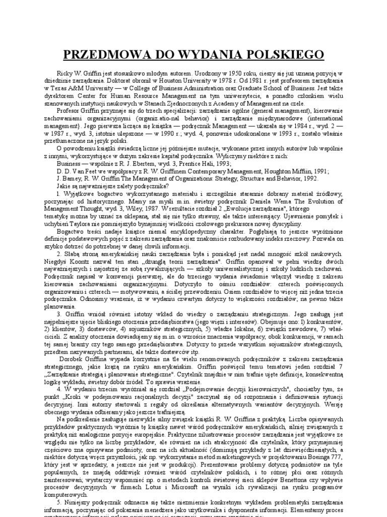 Rw griffin podstawy zarzdzania organizacjami ccuart Choice Image