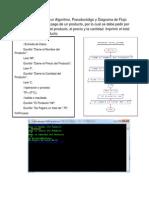 metodologia de la programacion pseudocodigo 1,2 y 3 resuelto