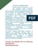 Medicina y Psiquiatría