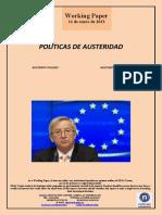 POLITICAS DE AUSTERIDAD (Es) AUSTERITY POLICIES (Es) AUSTERITATE POLITIKAK (Es)