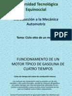 CICLO OTTO DE  UN MOTOR DE COMBUSTION INTERNA