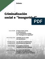 """Criminalización  social e """"inseguridad"""""""