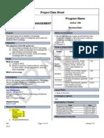 RFID Project Data Sheet