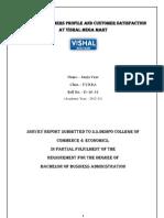 Vishal Mega Mart Project report