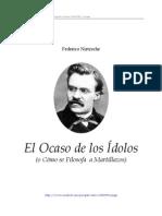 Nietzsche El Ocaso de Los Idolos