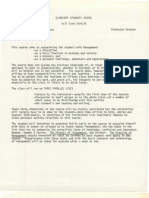 Peter Drucker's syllabus for The Management Process, 1974/75