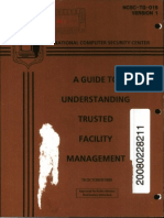 NCSC-TG-015-V1 A Guide to Understanding Trusted Facility Management (Brown Book)