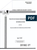 NCSC-TG-021 Trusted Database Management System of the TCSEC (Purple Book)