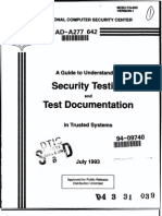 NCSC-TG-023 A Guide to Security Testing and Test Documentation in Trusted Systems (Bright Orange Book)