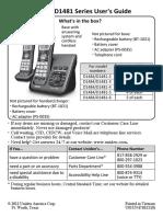UNIDEN Dect 6.0 - D1484_D1481 Manual