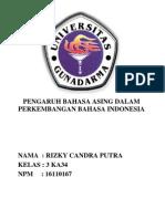 PENGARUH BAHASA ASING DALAM PERKEMBANGAN BAHASA INDONESIA