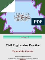 Cep Lecture5 Formwork