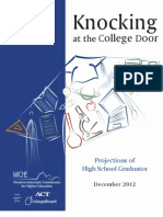 Knocking at the College Door Projections of High School Graduates Western Interstate Commission December 2012