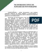Notiuni introductive de farmacognozie si fitoterapie