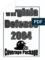2004 University of Virginia Defensive Coverage Packages