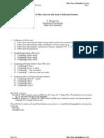 Effect Size Formulas