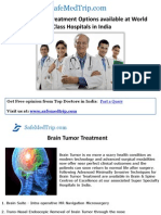 Brain Tumor Treatment Options Available at World Class Hospitals in India