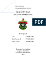 Olah Data 2 (Analisis Diskriminan)