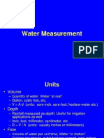 B Water Measurement