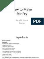 How to make Stir Fry