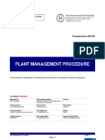 plant management procedure