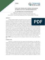STUDY OF THERMODYNAMIC OPTIMIZATION CRITERIA FOR DOMESTIC REFRIGERATOR (PROPANE –BUTANE AS DIVERSE REFRIGERANT)