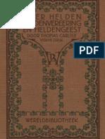 Thomas Carlyle - Zes lezingen over helden, heldenvereering en heldengeest in de geschiedenis