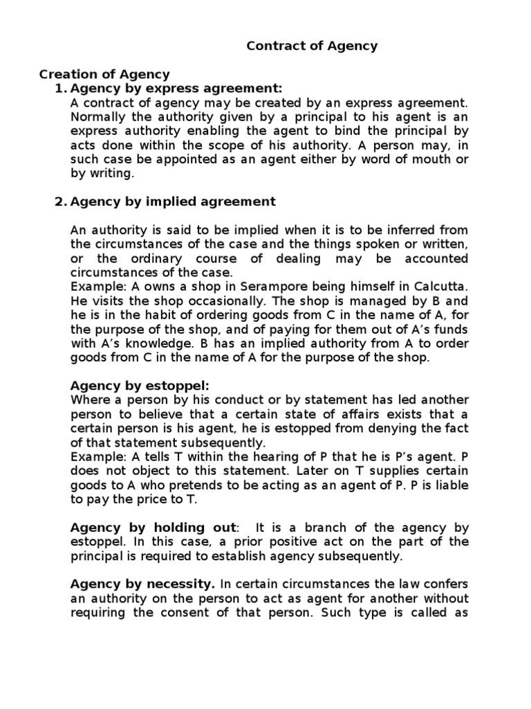 agency by estoppel cases