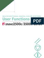 Toshiba E-Studio 2500c/3500c/3510c user function guide