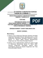 Peraturan Daerah Kabupaten Kerinci