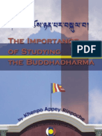 Importance of Studying the Dharma by Khenpo Appey