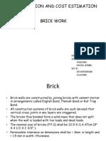 COST EST-Brick Work