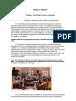 O TRABALHO INFANTIL NA REVOLUÇÃO INDUSTRIAL