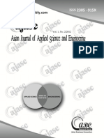 Asian Journal of Applied Science and Engineering (AJASE)