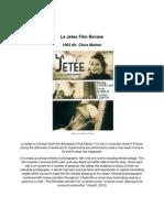 La Jetée Film Review