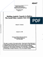 Building Analytical Capacity in Bolivia