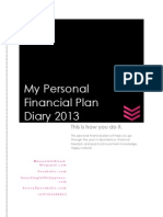My Personal Financial Plan Diary 2013