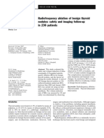 Radiofrequency Ablation of Benign Thyroid