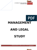 Management and Legal Aspects
