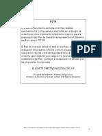 Plan de Involucramiento y participación de Actores (PIA) para la Estrategia de INversión del FIP en el Perú