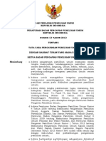 Perbawaslu Nomor 13 Tahun 2012 ttg Tata Cara Pengawasan Pemilu ok