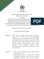 PERATURAN PRESIDEN REPUBLIK INDONESIA NOMOR 80 TAHUN 2012 TENTANG ORGANISASI, TUGAS, FUNGSI, WEWENANG, DAN TATA KERJA SEKRETARIAT JENDERAL BADAN PENGAWAS PEMILIHAN UMUM, SEKRETARIAT BADAN PENGAWAS PEMILIHAN UMUM PROVINSI, SEKRETARIAT PANITIA PENGAWAS PEMILIHAN UMUM KABUPATEN/KOTA, DAN SEKRETARIAT PANITIA PENGAWAS PEMILIHAN UMUM KECAMATAN